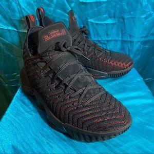 Nike LeBron XVI (16) Black/Red, Size 11